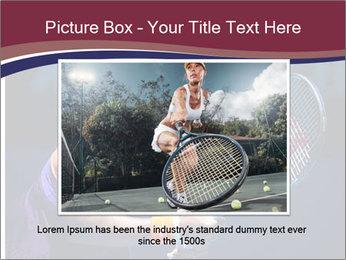 Tennis player PowerPoint Template - Slide 16