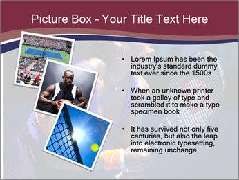 Tennis player PowerPoint Template - Slide 17