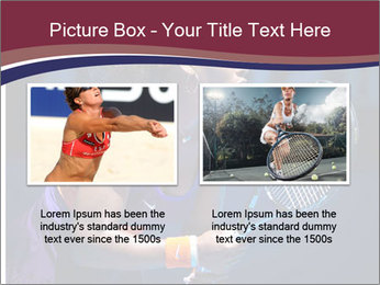 Tennis player PowerPoint Template - Slide 18