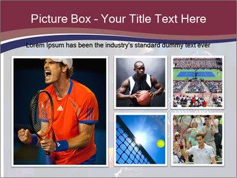 Tennis player PowerPoint Template - Slide 19
