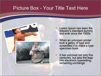 Tennis player PowerPoint Template - Slide 20