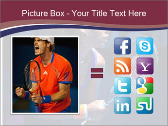 Tennis player PowerPoint Template - Slide 21