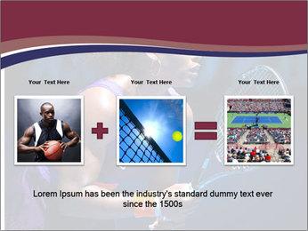 Tennis player PowerPoint Template - Slide 22