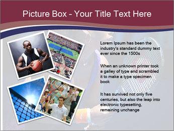 Tennis player PowerPoint Template - Slide 23