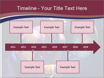Tennis player PowerPoint Template - Slide 28