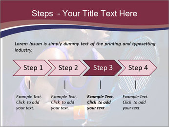 Tennis player PowerPoint Template - Slide 4