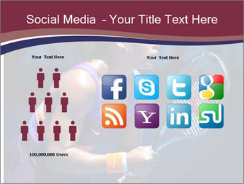 Tennis player PowerPoint Template - Slide 5