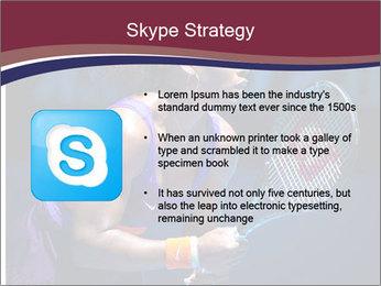 Tennis player PowerPoint Template - Slide 8