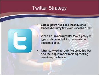 Tennis player PowerPoint Template - Slide 9