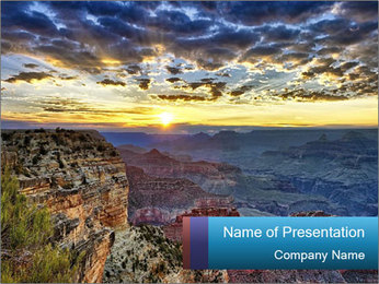 Grand Canyon PowerPoint Template - Slide 1