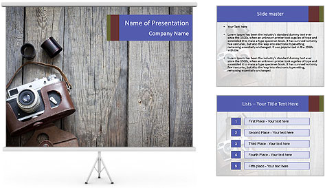 Old retro camera PowerPoint Template