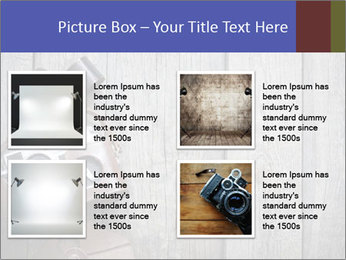 Old retro camera PowerPoint Template - Slide 14