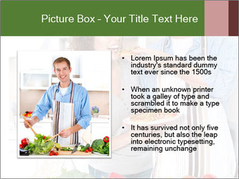 Happy Couple Eating Pizza PowerPoint Templates - Slide 13