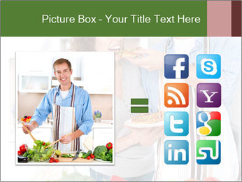 Happy Couple Eating Pizza PowerPoint Templates - Slide 21