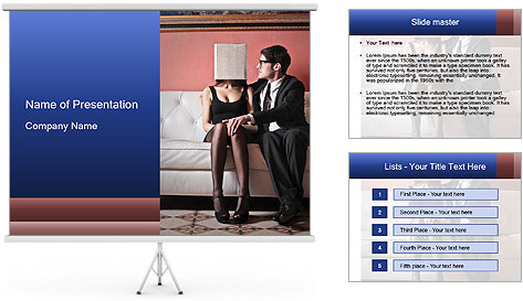 Men's infidelity PowerPoint Template