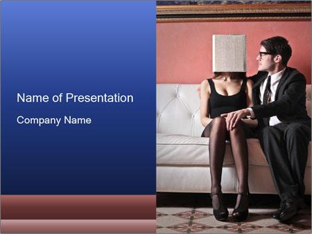 Men's infidelity PowerPoint Template
