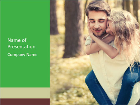 A young couple in love PowerPoint Templates
