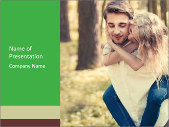 A young couple in love PowerPoint Template - Slide 1