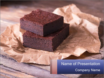Chocolate PowerPoint Template - Slide 1