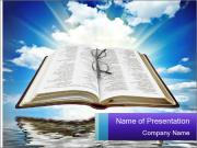 Bible with blue sky PowerPoint Templates