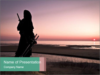 Assassin at the sea PowerPoint Template - Slide 1