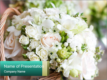 Wedding bouquet PowerPoint Template - Slide 1