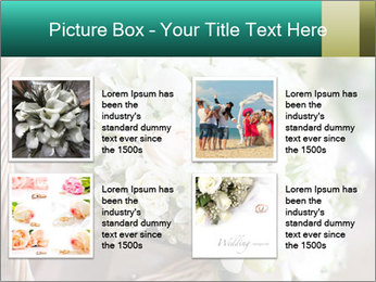 Wedding bouquet PowerPoint Template - Slide 14