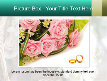 Wedding bouquet PowerPoint Template - Slide 16
