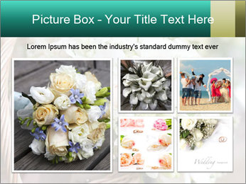 Wedding bouquet PowerPoint Template - Slide 19