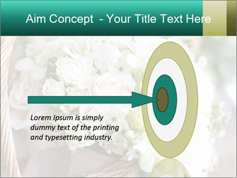 Wedding bouquet PowerPoint Template - Slide 83