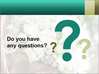 Wedding bouquet PowerPoint Template - Slide 96