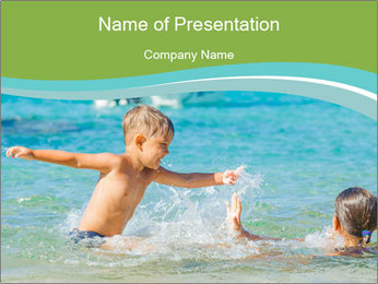 Happy kids PowerPoint Template