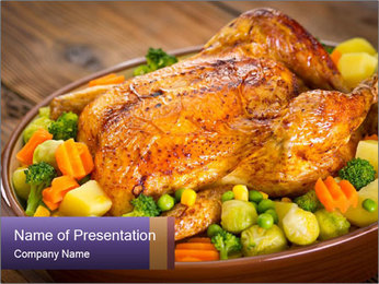 Chicken with Vegetables PowerPoint Template