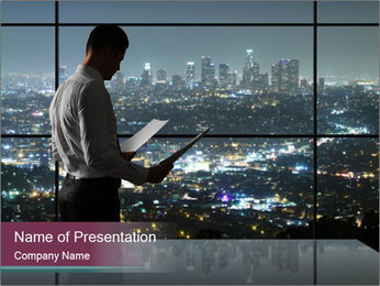 Businessman PowerPoint Template - Slide 1