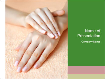 Beautiful woman hands PowerPoint Template