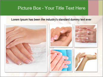 Beautiful woman hands PowerPoint Template - Slide 19
