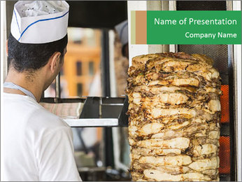 Shawarma PowerPoint Template - Slide 1