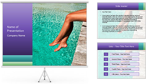 Woman's legs PowerPoint Template