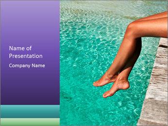 Woman's legs PowerPoint Template - Slide 1