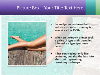 Woman's legs PowerPoint Template - Slide 13