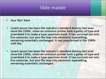 Woman's legs PowerPoint Template - Slide 2
