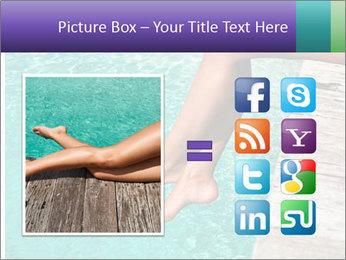 Woman's legs PowerPoint Template - Slide 21
