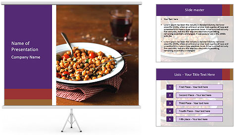 Vegetable dish PowerPoint Template