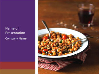 Vegetable dish PowerPoint Template - Slide 1