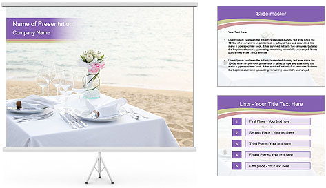 Romantic dinner PowerPoint Template