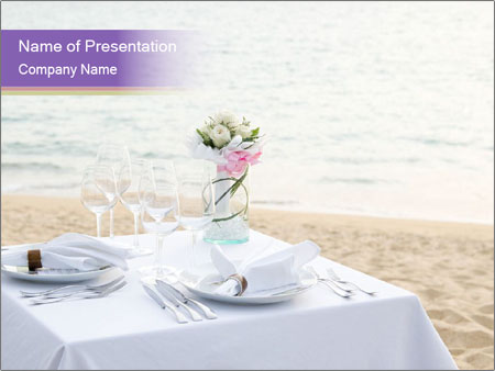 Romantic dinner PowerPoint Template