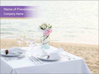 Romantic dinner PowerPoint Templates - Slide 1