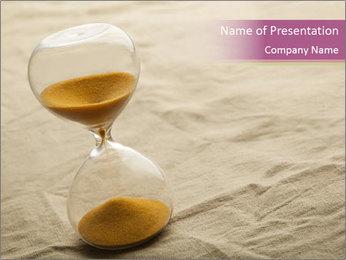 Hourglass PowerPoint Template - Slide 1