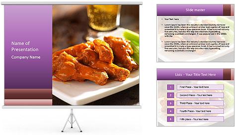 Buffalo chicken PowerPoint Template