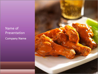 Buffalo chicken PowerPoint Template - Slide 1